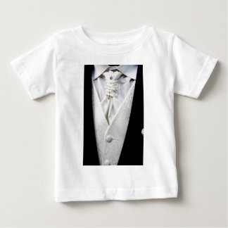 Black and White Tuxedo Collar Baby T-Shirt