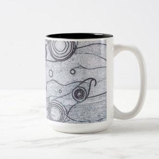 Black and White Two-Tone Coffee Mug