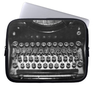 Black and White Typewriter Laptop Computer Sleeves