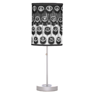 Black and White Typewriter Table Lamp