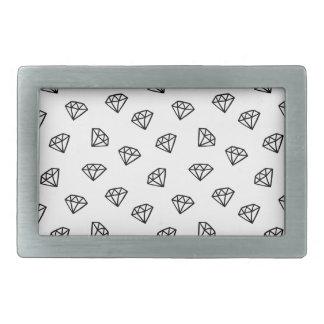 Black and white version of diamond. belt buckle