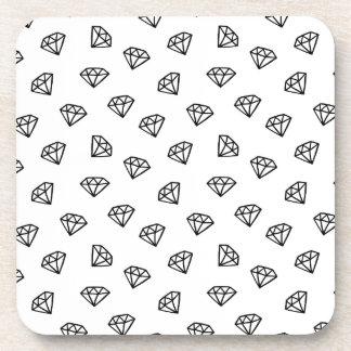 Black and white version of diamond. coaster