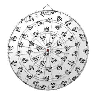 Black and white version of diamond. dartboard
