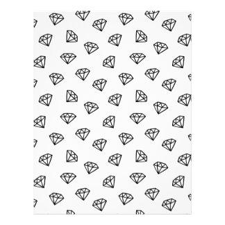 Black and white version of diamond. letterhead