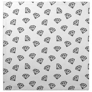 Black and white version of diamond. napkin
