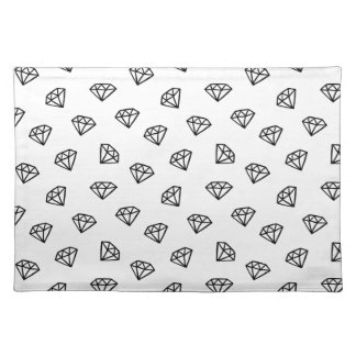 Black and white version of diamond. placemat