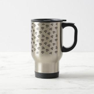 Black and white version of diamond. travel mug
