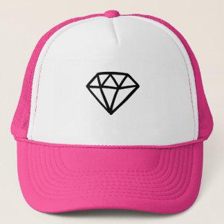 Black and white version of diamond trucker hat
