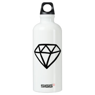 Black and white version of diamond water bottle