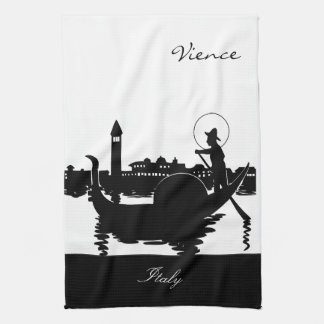 Black and White Vience Italy Towel