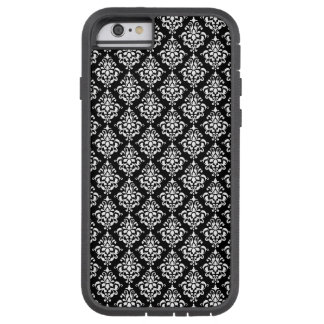 Black and White Vintage Damask Pattern 1 Tough Xtreme iPhone 6 Case