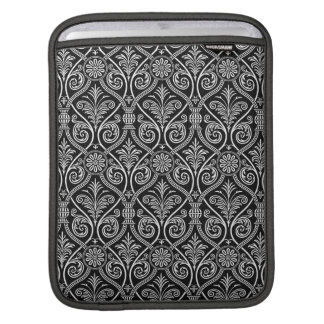 Black And White Vintage Damask Pattern Sleeves For iPads