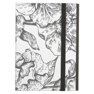 Black and White Vintage Floral iPad Air Case