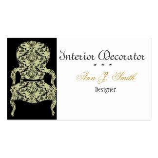Black and White Vintage Lace Chair Pack Of Standard Business Cards