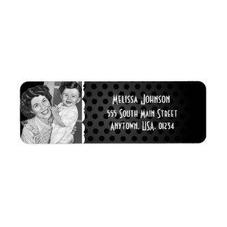 Black and White Vintage Mom and Child Baby Shower