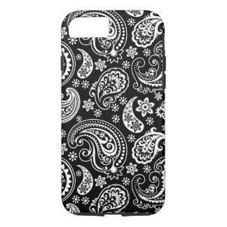 Black And White Vintage Paisley Ham Pattern iPhone 7 Case