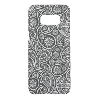Black & and white vintage paisley pattern uncommon samsung galaxy s8 case