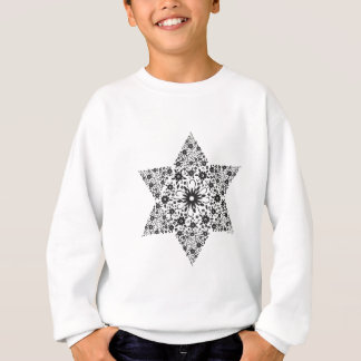 Black and White Vintage Star of David - Magen Davi Sweatshirt