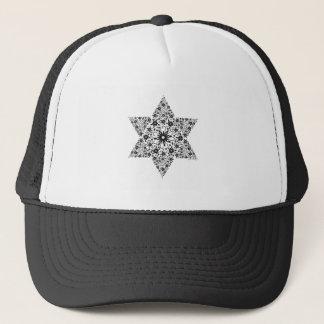 Black and White Vintage Star of David - Magen Davi Trucker Hat
