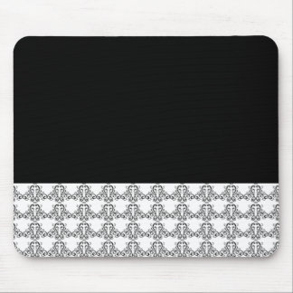 Black and White Vintage Style Mouse Pad