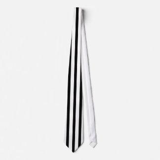 Black and White Vintage Vertical Stripes Tie