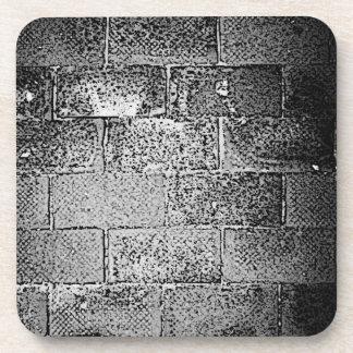 Black and White Wall. Digital Art. Beverage Coasters