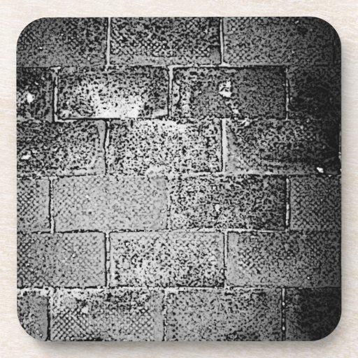 Black and White Wall. Digital Art. Beverage Coasters
