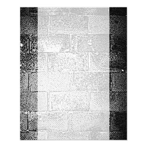 Black and White Wall. Digital Art. Custom Flyer