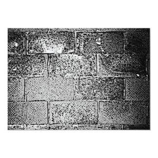 Black and White Wall. Digital Art. 5x7 Paper Invitation Card