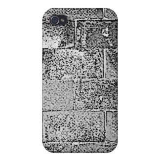 Black and White Wall. Digital Art. iPhone 4/4S Cases