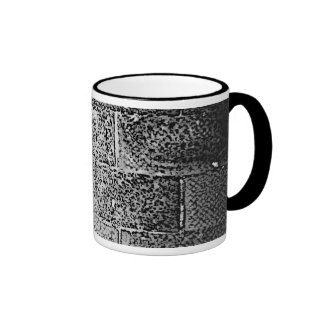 Black and White Wall. Digital Art. Coffee Mug