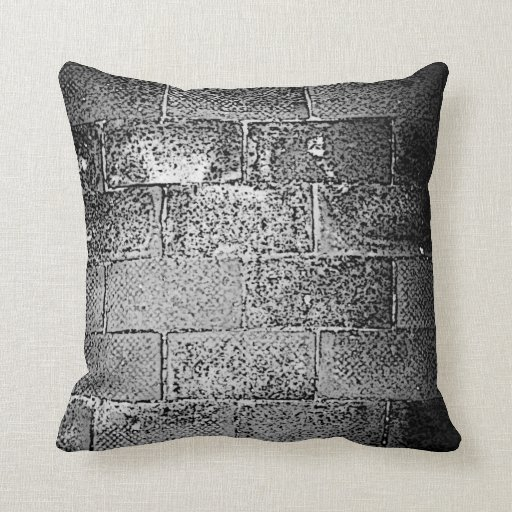 Black and White Wall. Digital Art. Pillows