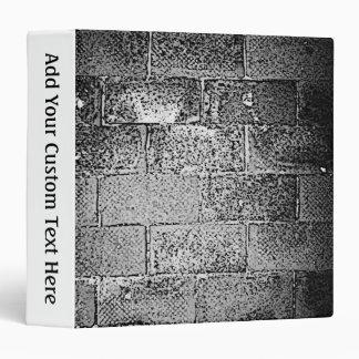 Black and White Wall. Digital Art. Vinyl Binders