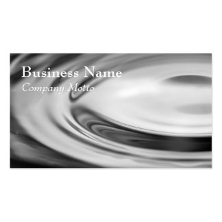 Black and white water ripple Generic business card
