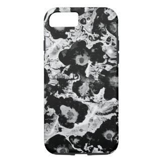 Black and white, water texture design, iPhone 8/7 case