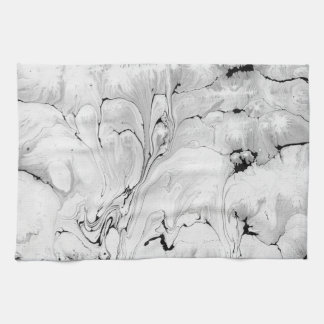 Black and white, water texture design, kitchen towel