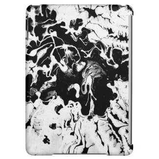 Black and white, water texture design, marbling iPad air cover