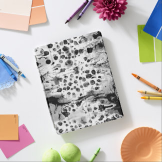 Black and white, water texture design, marbling iPad cover