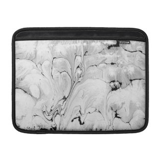 Black and white, water texture design, marbling sleeve for MacBook air