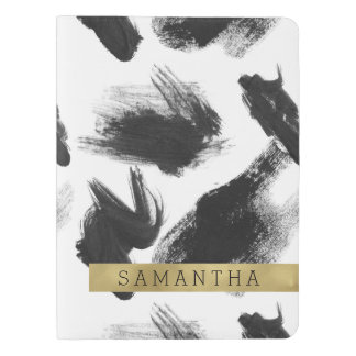 Black and White Watercolor Abstract Extra Large Moleskine Notebook