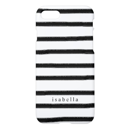 Black And White Watercolor Stripes iPhone 8/7 Case
