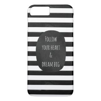 Black and White Watercolor Stripes iPhone 8 Plus/7 Plus Case