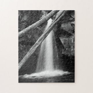 Black and white waterfall jigsaw puzzle