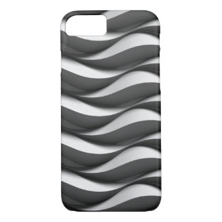 black and white wave pattern iPhone 8/7 case