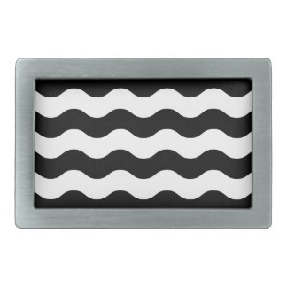 Black and white waves 50s edition belt buckles