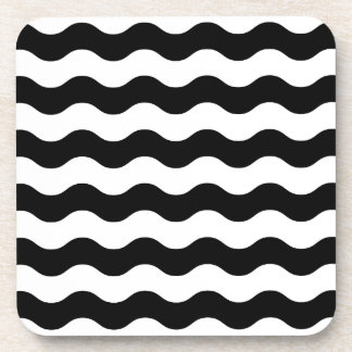 Black and white waves 50s edition coaster