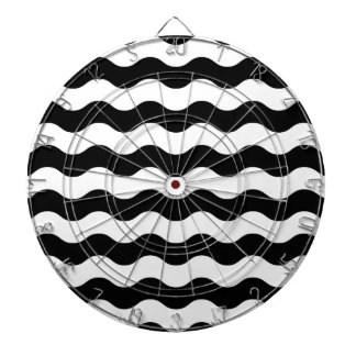 Black and white waves 50s edition dartboard