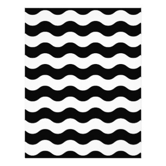 Black and white waves 50s edition letterhead