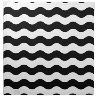 Black and white waves 50s edition napkin