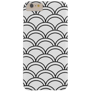 Black and White Waves Pattern Nautical Barely There iPhone 6 Plus Case